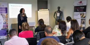Janet Efere delivering sales training