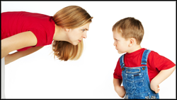 sell more - negotiate like a child -mother and child in a stand off