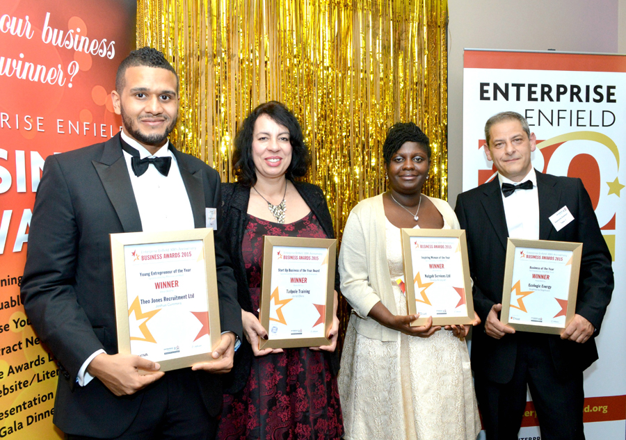 Tadpole Training - Winner Enterprise Enfield Start Up Business of the Year 2015