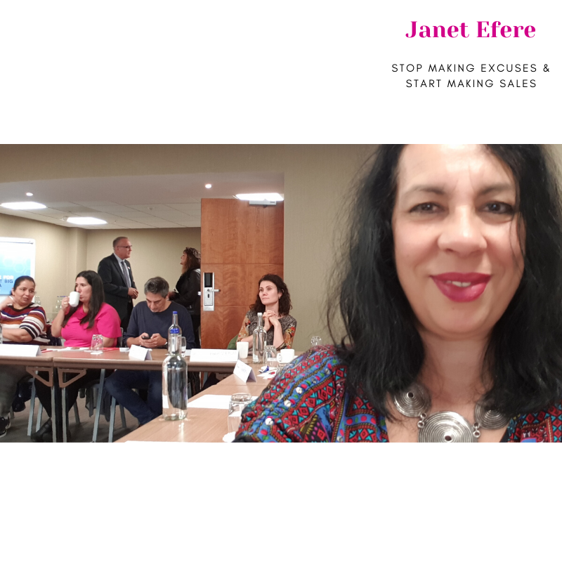 Janet Efere at a training event